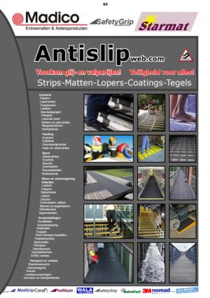 Antislipmatten catalogus Antislip strips Trap Antislip producten Madico Antislip houten vlonder