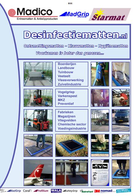 desinfectiematten catalogus