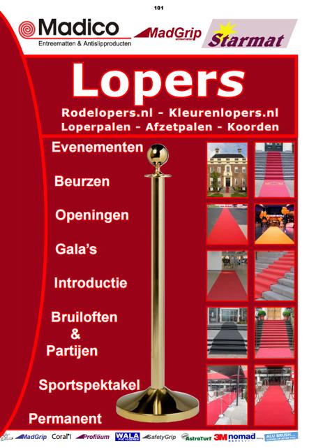 rode lopers catalogus loperpalen koorden